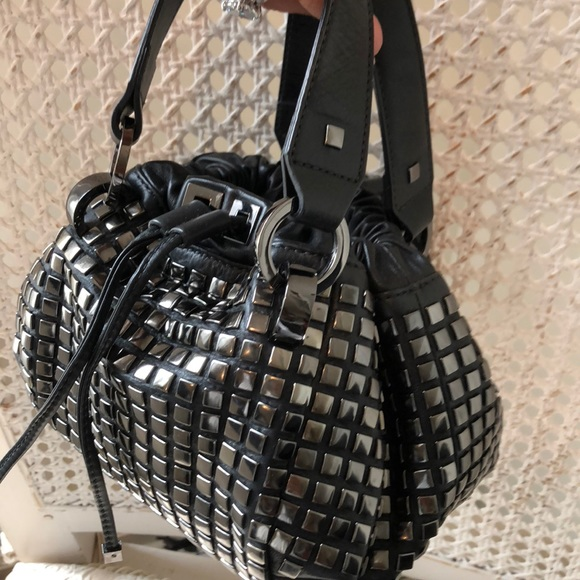 a190279f419e Karen Millen Bags   Black Leathersilver Stud Small Bag   Poshmark